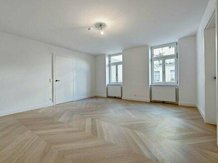 Absolute Ruhelage in herrlich begrüntem Innenhof nächst Naschmarkt! Zwei-Zimmer-Altbau-Erstbezug mit Terrasse und Loggia