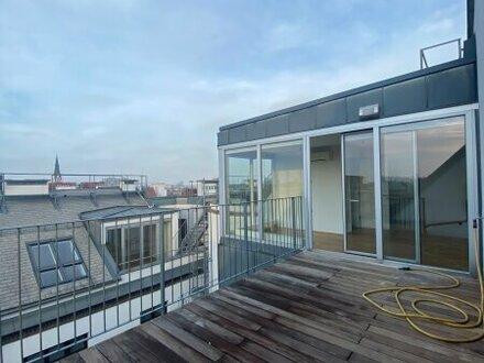 Bezaubernde 5- Zimmer DG-Wohnung mit Terrasse im 4. Bezirk ZU VERMIETEN