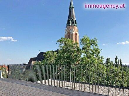 wohnen am Kinzerplatz, Penthouse der Extraklasse mit 72m2 Terrassen, spektakulärer Ausblick!
