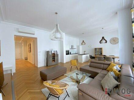 UNBEFRISTET - EXKLUSIVE Altbauwohnung I 4 Zimmer I Klimaanlage I Balkon I Nähe Stephansplatz I