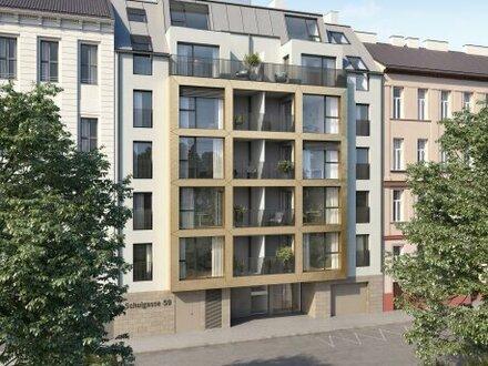 Parkseitiger Neubau aus 2021 mit Loggia! Klimatisierter 2-Zimmer-Erstbezug im 4. Liftstock