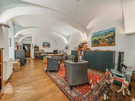 Elegante Wohnung/Büro mit schönem Garten in Biedermeierhaus, Nähe Loquaipark