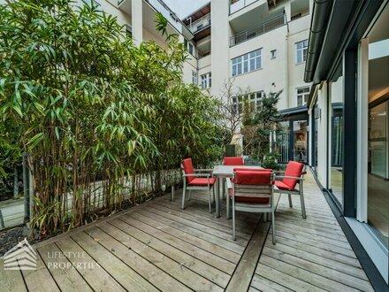 U3 Zieglergasse: 7-Zimmer-Wohnung mit Garten