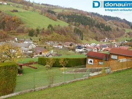 3213 Frankenfels/Pielachtal: Großes Baugrundstück mit traumhaftem Ausblick