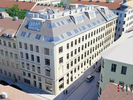 EINZIGARTIG in WIEN - exklusive Dachgeschosswohnung mit hofseitiger Terrasse in wunderschönem Gründerzeithaus  komplett…