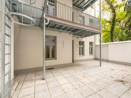 ++NEU++ PREMIUM 2-Zimmer Altbau-Erstbezug mit Terrasse im Erdgeschoss im Innenhof!