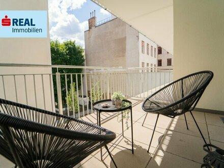 Single- oder Pärchenwohnung mit großem Balkon