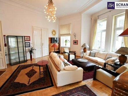 Repräsentative Luxus-Altbauwohnung in toller innerstädtischer Lage! Prächtiger Altbau an einem ruhigen Platzl in 1010 W…