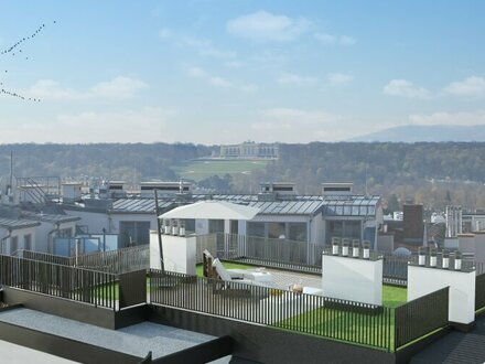 TRAUMDACHGESCHOSS - Glorietteblick von der Dachterrasse