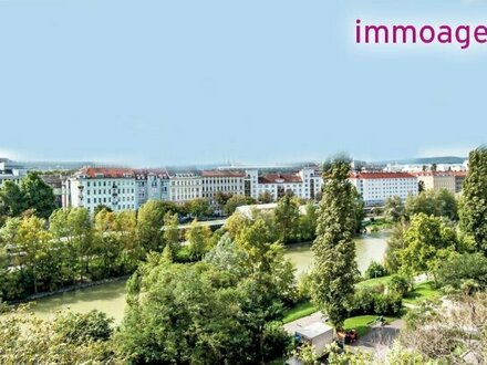 Luxuriöse 2 Zimmer Wohnung mit Süd-West-Balkon - tolle Anbindung und herrliche Aussicht - direkt am Donaukanal