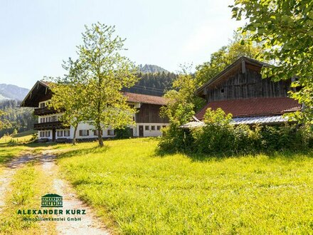 Bauernhof im Chiemgau mit ca. 37 ha Wiese und Wald