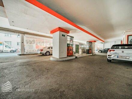 Lukrative Tankstelle mit Werkstatt und vermietbaren Garagenplätzen in Neubau