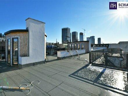 Geht nicht, gibt´s nicht! Terrassen-Sensation im Hoftrakt! Über 100m² pures Lebensgefühl auf der Dachterrasse! Neid gar…