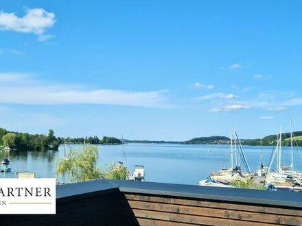 Erstbezugs-Etagenwohnung mit eigenem Seezugang direkt am Obertrumer See!
