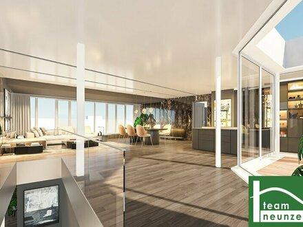 Mitten in der Stadt! Extravagantes Luxus Penthouse mit Infinity Pool! Garage! U4, Neue U2/U5 nur 50m entfernt