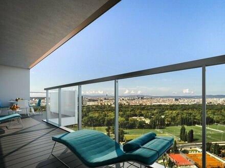 Marina Tower - Wien's neuer Hotspot - Süd-Blick im 36. OG