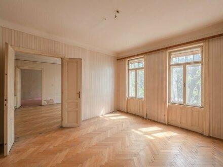 ++NEU++ Einzigartige Sanierungsbedürftige 3-Zimmer Stilaltbauwohnung mit getrennter Küche! NAHE LAINZER TIERGARTEN!
