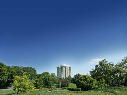 1605 - LUXUS 3-Zimmer-Wohnung mit 30 m² Freifläche im 16. Stock direkt an der U1 Oberlaa!