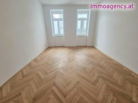 Erstbezug 2 Zimmer Altbauwohnung ca. 51,76m2 + Balkon. Sehr gute Lage, nähe U1 Kagranerplatz