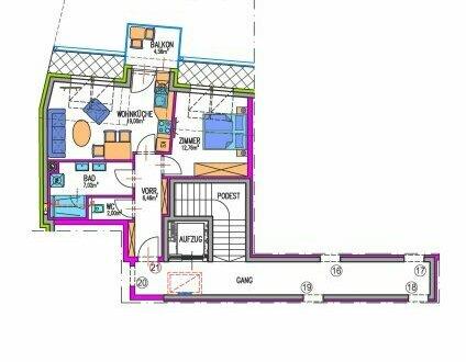 Wohnung mit Lift und Klimaanlage (Zentrum)!