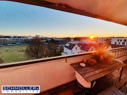Sonnige 2-Zimmer Wohnung mit toller Aussicht und bester Verkehrsanbindung
