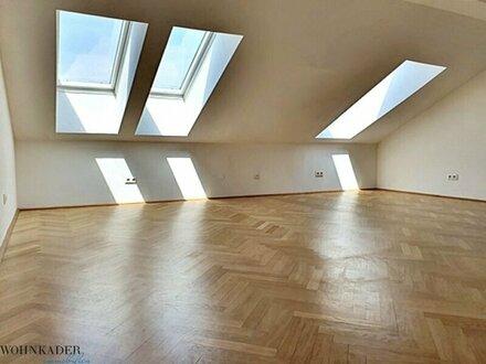 Unbefristete 52m² Dachwohnung - Variante 2-Zimmer-Wohnung möglich!
