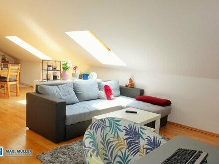Smart unterm Dach - 3-Zi-Wohnung ca. 74 m2 (60 m2) (T5) Wals-Siezenheim ab 1. Jänner 2022