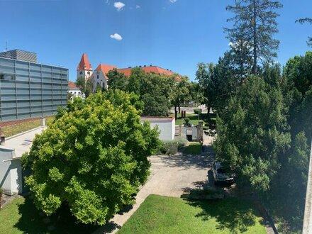 Außergewöhnliches Bürohaus beim Stadtpark mit Gartenanlage, Garagen und straßenseitigem Geschäftslokal!