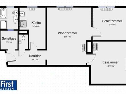 Gepflegte 3-Zimmerwohnung nächst Liebhartstal und Klinik Ottakring
