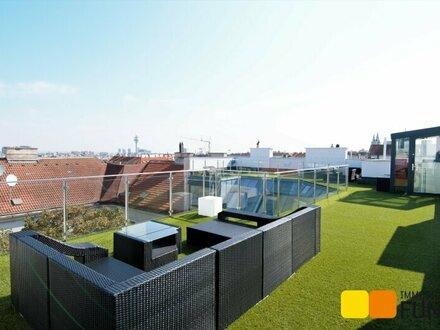 Großzügige, moderne Dachgeschossmaisonette mit ca. 110 m² Terrasse, Rundumblick