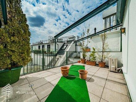 Außergewöhnliche 4-Zimmer Maisonette mit Terrasse, Nähe Karmelitermarkt