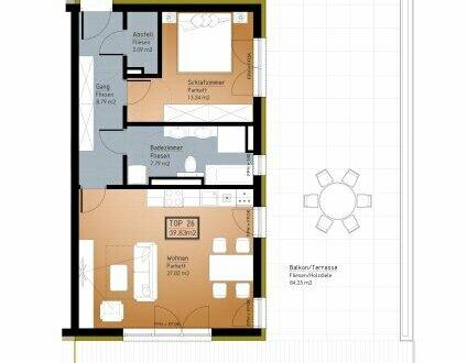 IN PLANUNG - NEUES BAUVORHABEN IM ZENTRUM VON RANSHOFEN (OÖ) 2 Zimmer-Wohnung mit großer Terrasse!