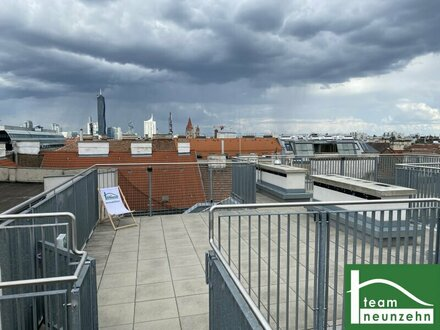 Helle Erstbezug Dachgeschosswohnungen mit Terrassen und Wienblick in Zentrumsnähe