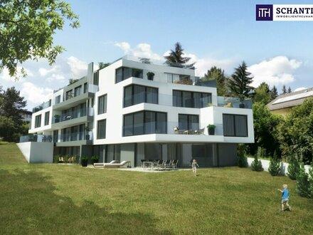 Wohntraum im Grünen: Perfekt aufgeteilte 3-Zimmer Gartenwohnung mit mit traumhafter Glasfront und Blick auf den Dehnepa…