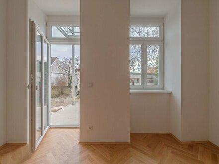 ++NEU++ Generalsanierte 2-Zimmer EG-ALTBAUwohnung mit fantastischer Südterrasse und kleinem Garten!