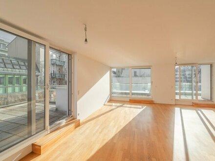 ++NEU++ Hochwertige 3-Zimmer Neubau-Penthouse Wohnung mit sonnigen Terrassen ++GRÜNRUHELAGE++