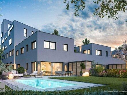 Neubau südlich der Salzburger Altstadt: Exklusive Townhouse-Wohnung mit wunderschönem Garten