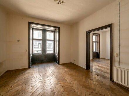++NEU++ Sanierungsbedürftige 3-Zimmer Altbauwohnung, sensationeller STILALTBAU!