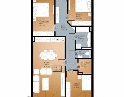 IN PLANUNG - NEUES BAUVORHABEN IM ZENTRUM VON RANSHOFEN (OÖ) - 4 Zimmer-Wohnung mit Balkon!