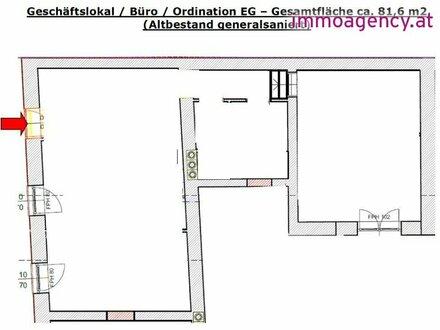 Ca. 82 m2 BÜRO- / ORDINATION- / GESCHÄFTSFLÄCHEN im Zentrum von Wiener Neustadt - Bestimmen Sie jetzt noch mit!!!!