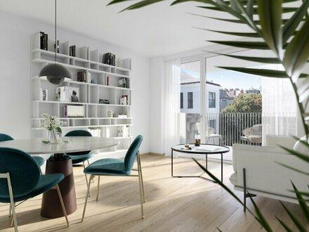 Hofseitiger, klimatisierter 2-Zimmer-Neubau mit südwestseitigem Balkon und Garagenoption