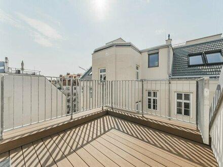Moderne 2-Zimmer DG Wohnung mit Terrasse in 1080 Wien!