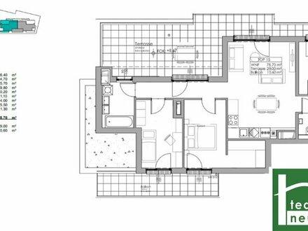 Der Wahnsinn ! Sehen Sie selbst ! Einzigartige 4 Zimmer Dachgeschoß Wohnung mit über 40 m2 Dachterrasse rund um die Whg…