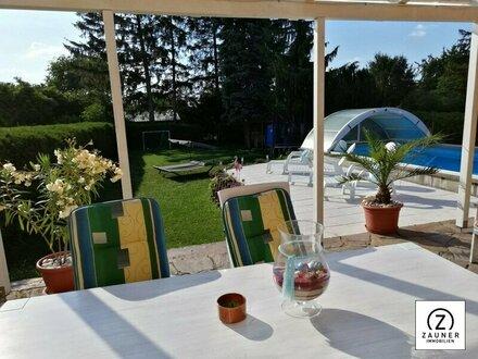 Bungalow mit großem Garten und Pool in Mitterndorf an der Fischa - Nähe Gramatneusiedl