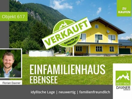 Verkauft! So nah am Wasser gebaut - Traumhaus in Ebensee am Traunsee!!