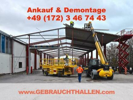 Kaufe + demontiere Abbruchgenehmigte Stahlhalle Gewerbehalle Kfz- Ausstellungshalle / Werkstatthalle