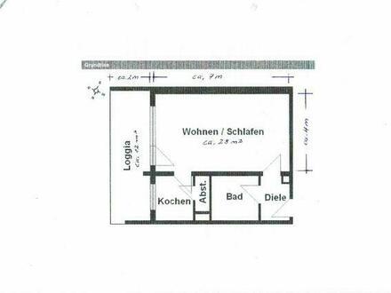 1-Zimmerwohnung in Ludwigshafen - Mitte