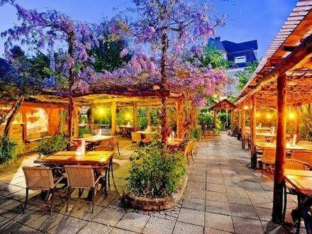 Renommiertes Restaurant Castrop-Rauxel, Innenstadt, Ruhrgebiet, Ladenlokal, Biergarten, Bar