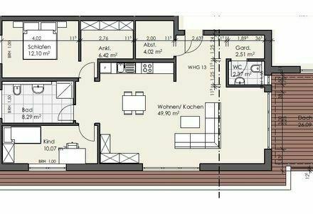 Erstbezug: attraktive 3-Zimmer DG Wohnung mit Dachterrasse in Flörsheim-Dalsheim