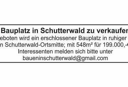 Bauplatz in Schutterwald zu verkaufen
